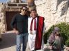 Federico Aimo con Federico Córdoba en Tierra Santa